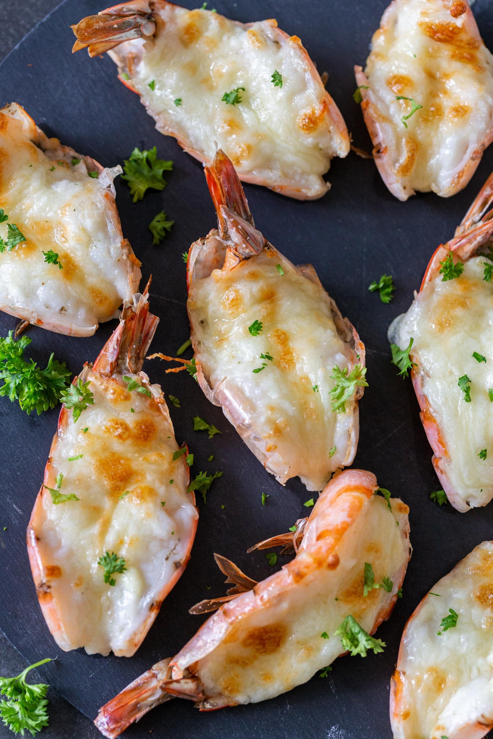 Baked cheesy shrimp