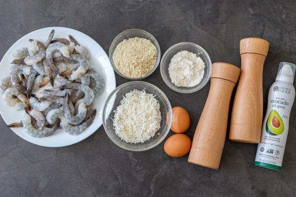 Ingredients for the Crispy Air Fryer Coconut Shrimp