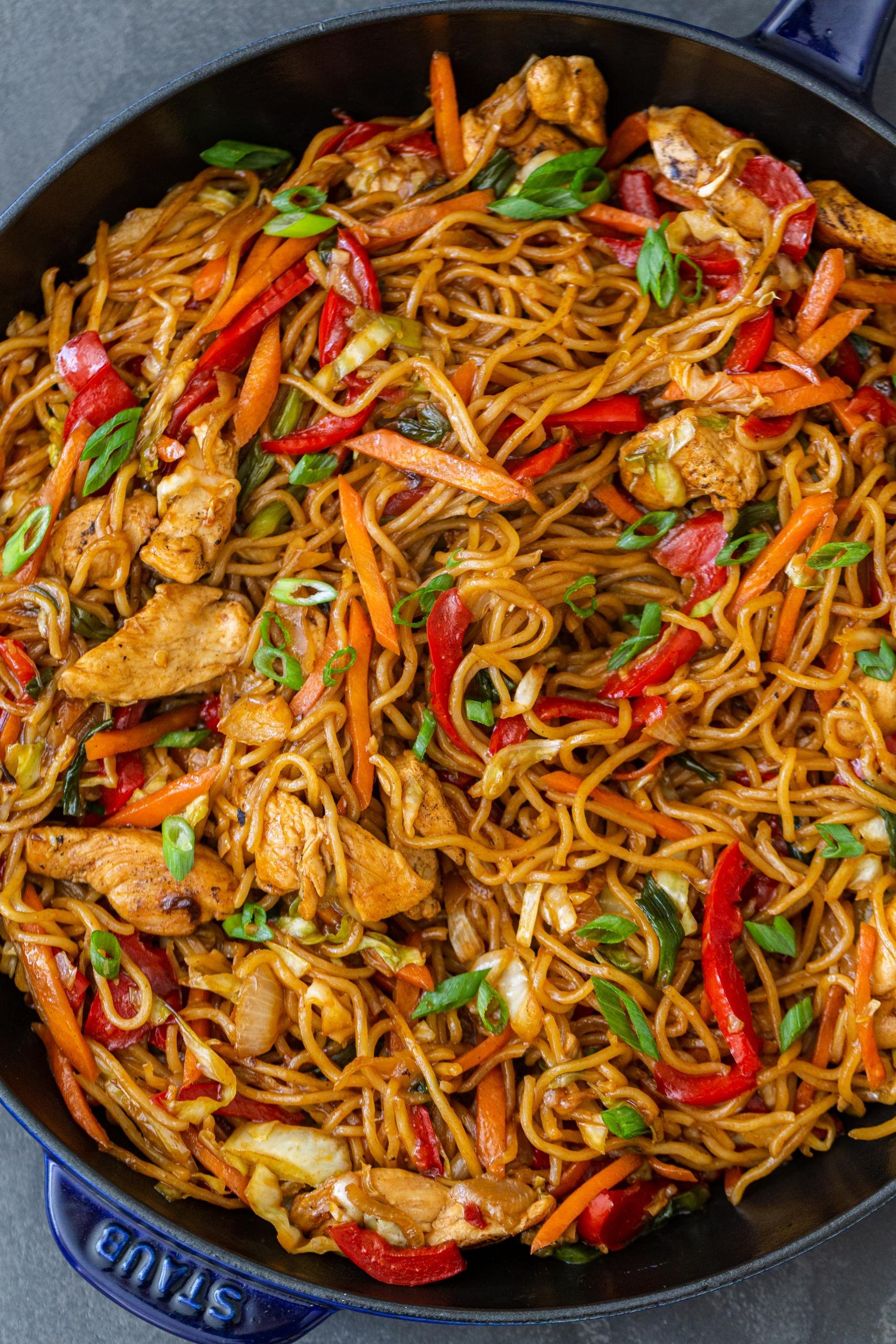Simple Yakisoba Noodles Recipe Momsdish