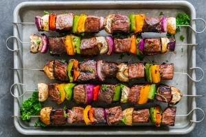 Shish Kabob with beef and veggies