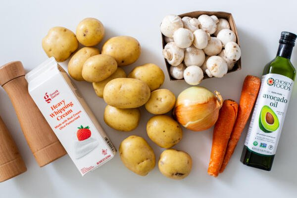 ingredients for the creamy potatoes