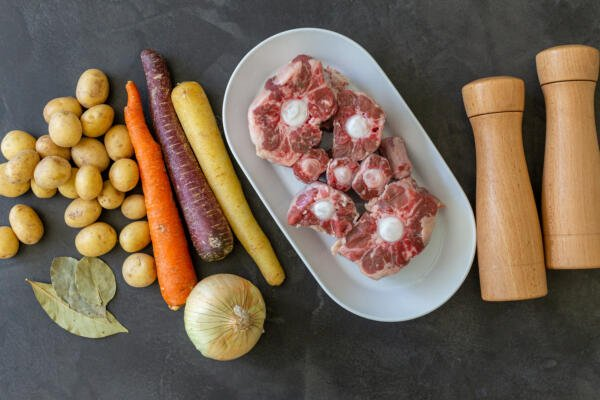 Braised Oxtail ingredients