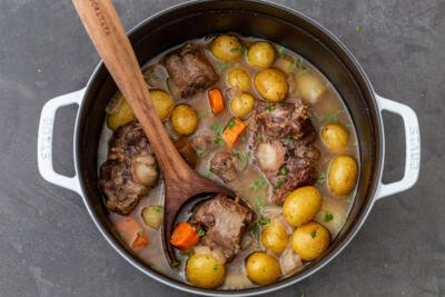 Braised Oxtail in a pot