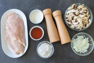 Ingredients for chicken marsala