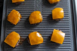 meat patties with cheese