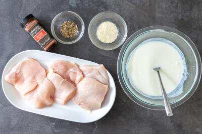 chicken pieces with spice and buttermilk