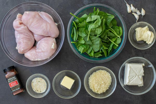 Ingredients for stuffed chicken