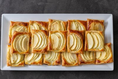 Apple tarts on a plate