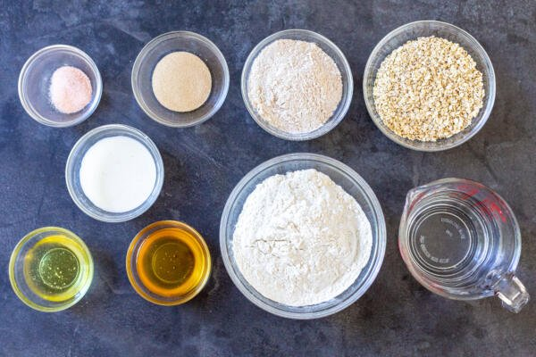Ingredients for Honey wheat bread