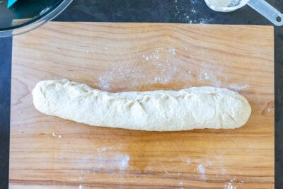 bread dough rolled up