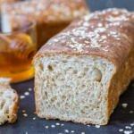 Sliced Open Honey Wheat Bread