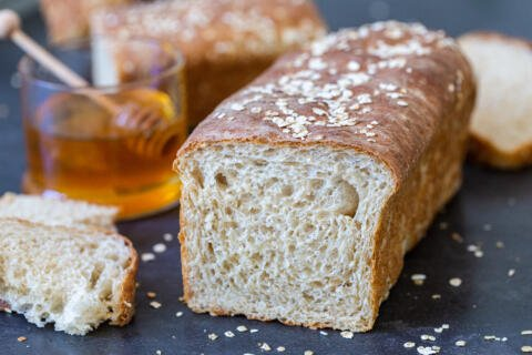 Sliced Open Honey Wheat Bread