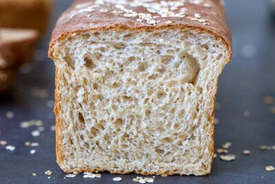 Honey Wheat bread cut