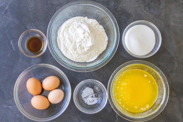 Madeleine Cookies ingredietns