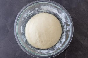 Naan dough doubled in a size