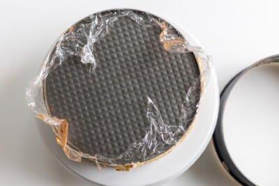 Tiramisu crepe cake with mold