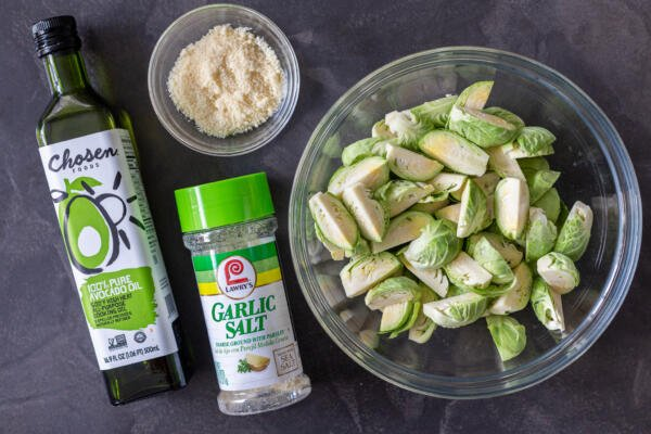 Ingredients for Air Fryer Brussels Sprouts