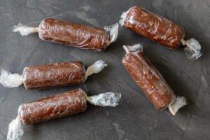 wrapped chocolate salami