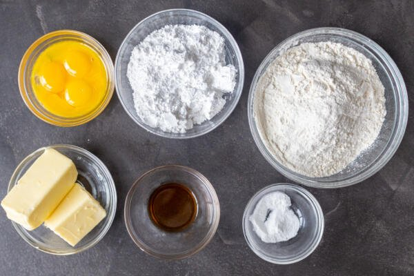 ingredients for the cookie dough