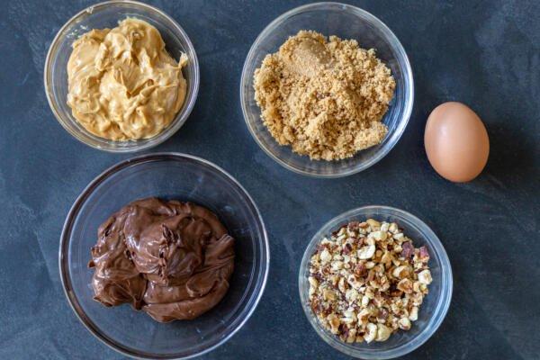 ingredients for nutella cookies