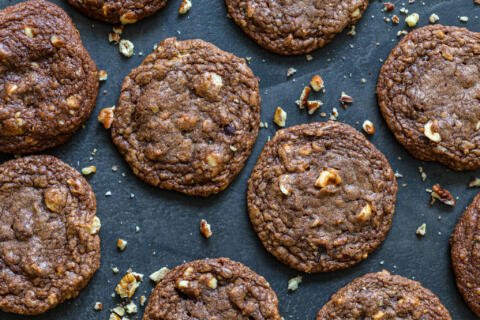 Nutella cookies with nuts