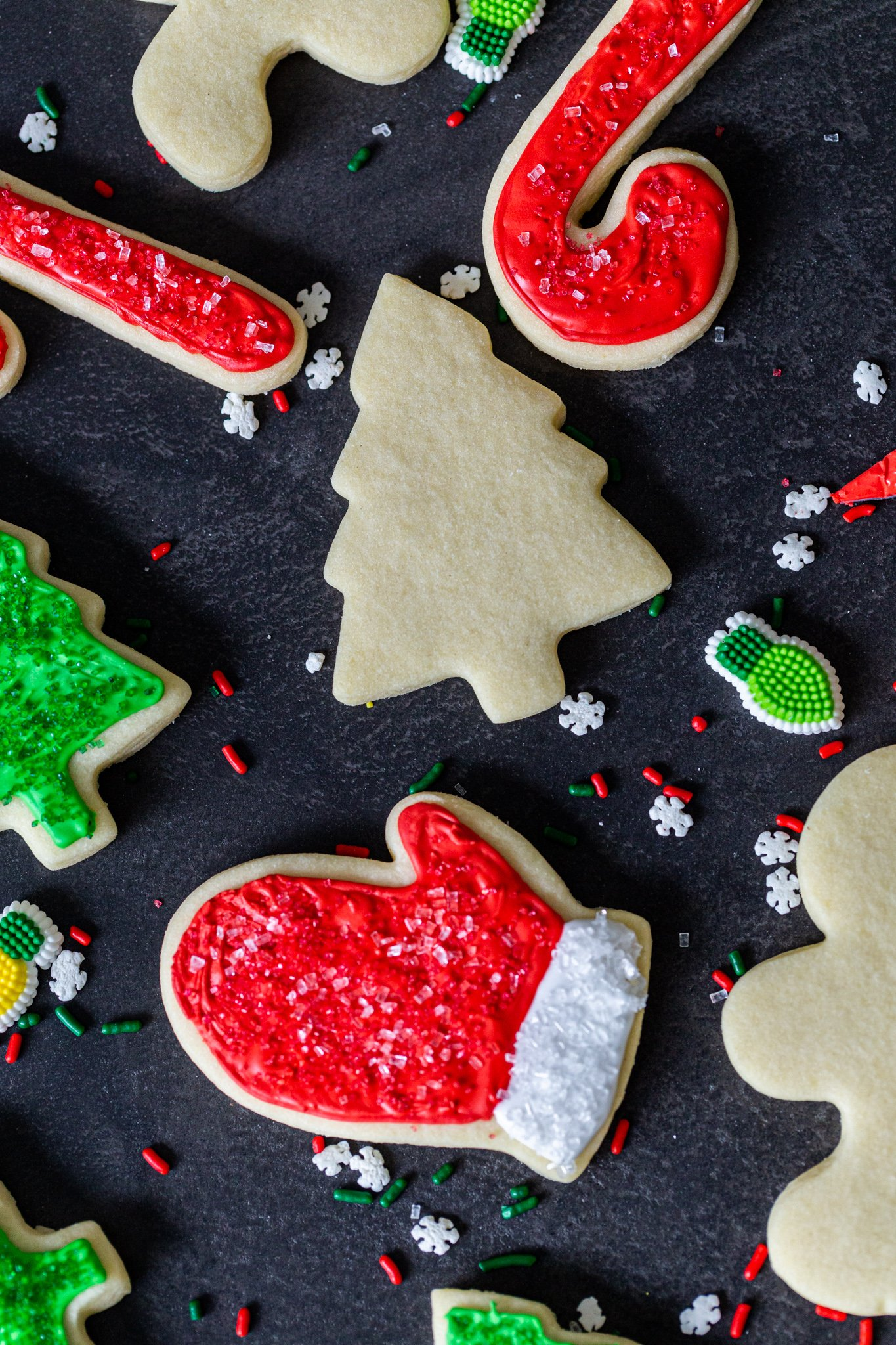 Sugar cookies with Christmas decorations