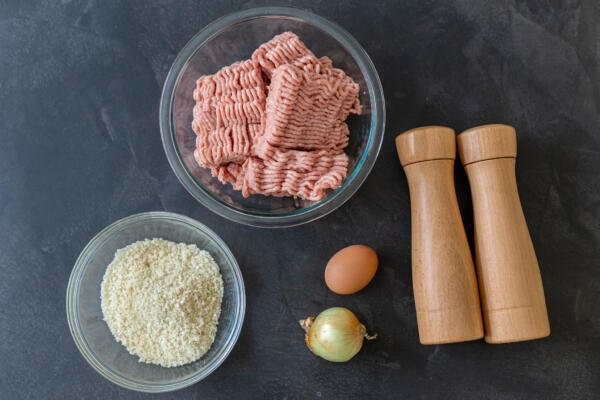 Ingredients for the swedish meatballs