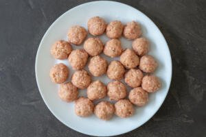 formed meatballs on a plate