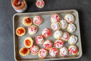 meringue sugar cookies with jam