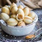 Russian walnut cookies in a bowl