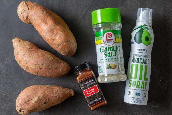 Ingredients for sweet potato fries