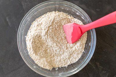 dry ingredients for the cranberry muffins
