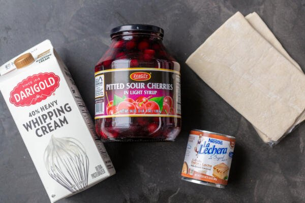 Ingredients for Honeycomb cherry cake