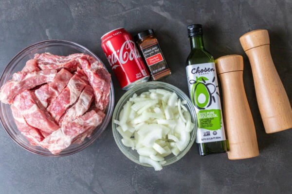 Ingredients for pork ribs recipe