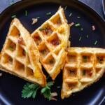 prepared chaffles on a plate