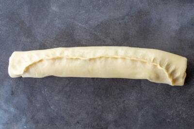 babka rolled up and sealed