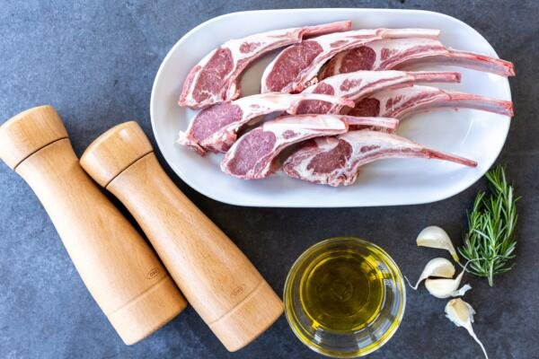 Ingredients for fried lamb chops
