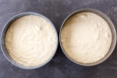 honey sponge cake in a pan