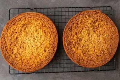 honey sponge cake baked