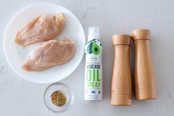 Ingredients for air fryer chicken breast
