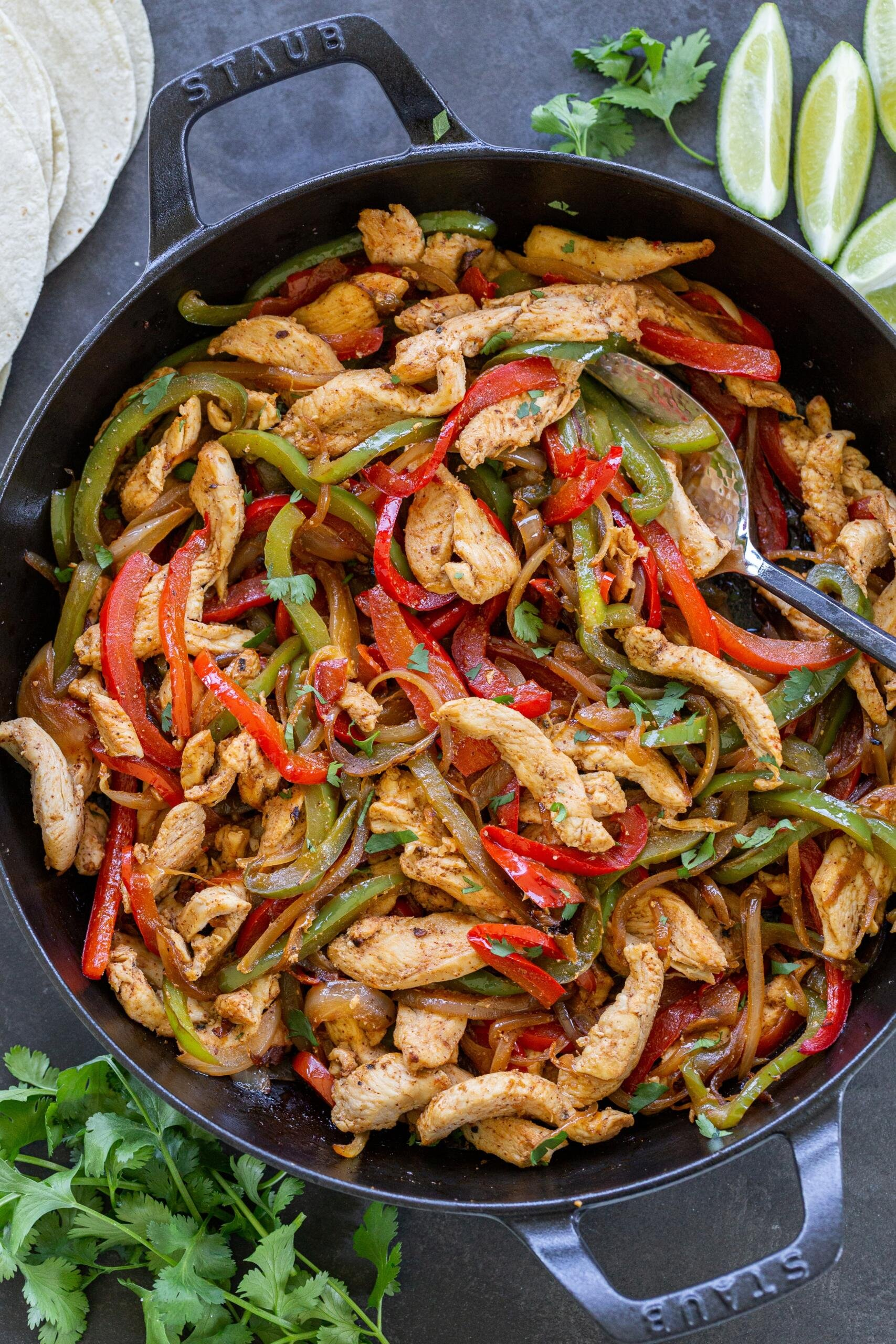 Chicken Fajita in a skillet