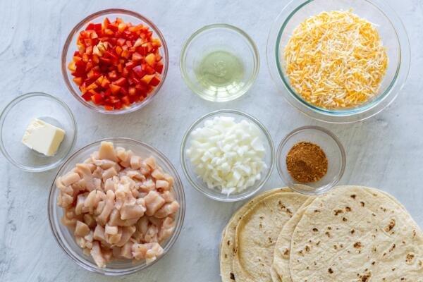 Ingredients for Quesadillas