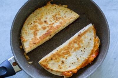 Quesadillas on a pan