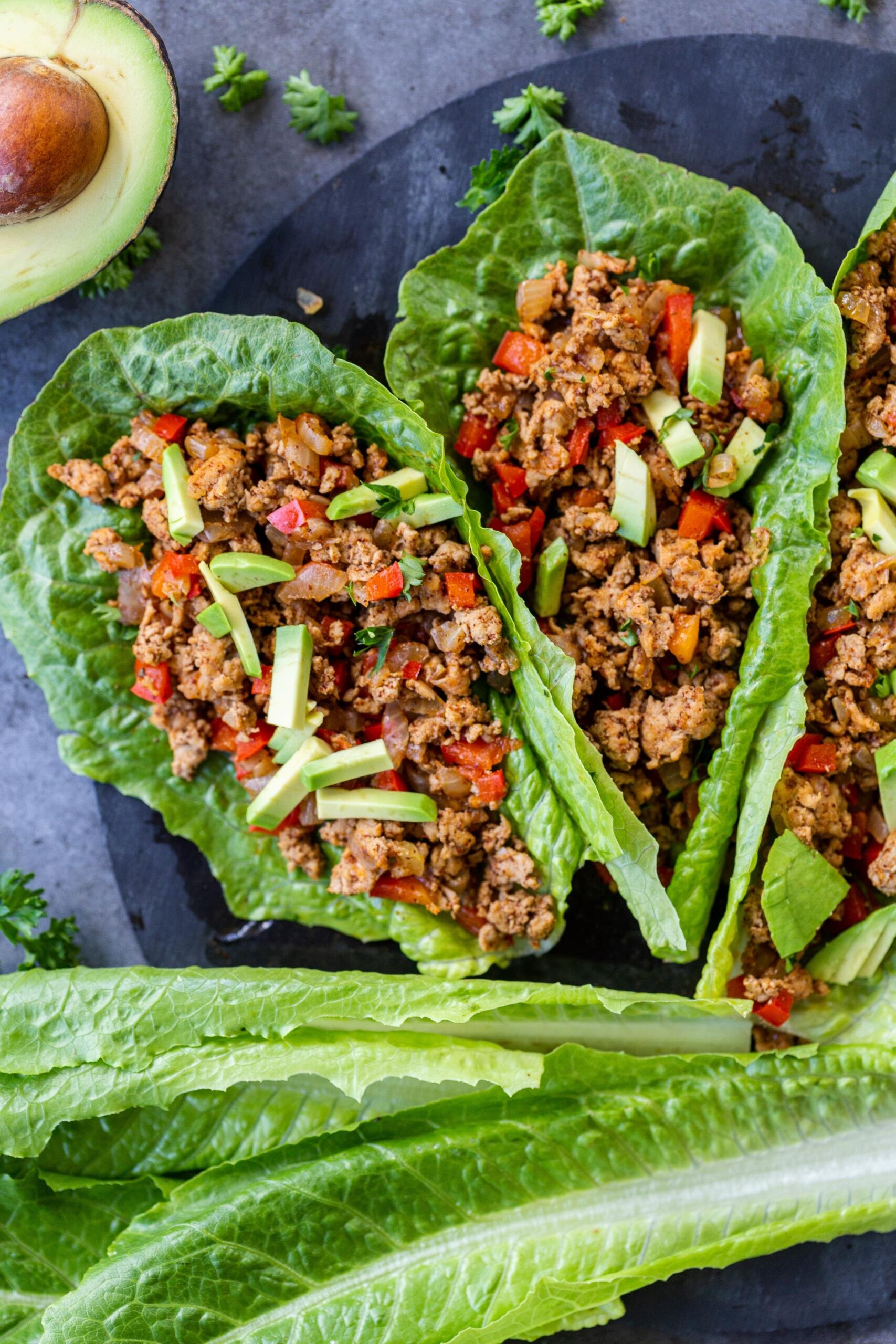Lettuce wraps with turkey