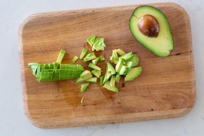 cut avocado into pieces