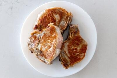 Pork chops on a plate