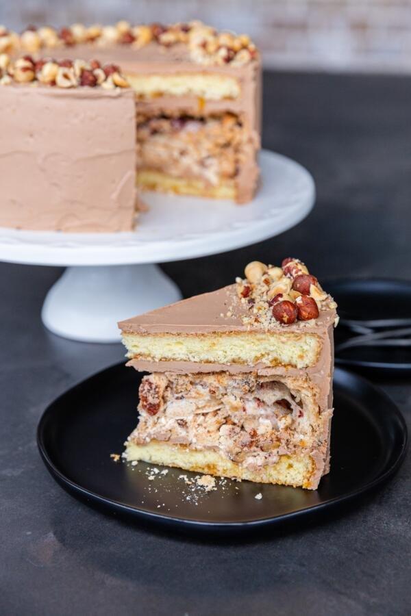 Kiev Cake sliced open