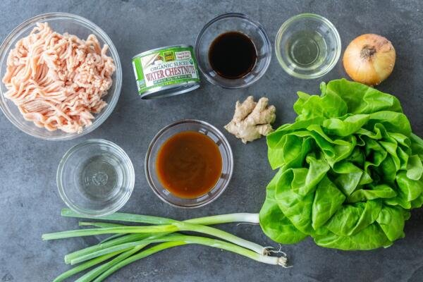 ingredients for PF Changs Chicken Lettuce wraps