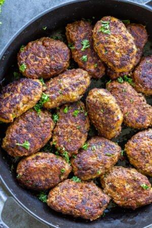 Buckwheat Meat Patties in a serving tray