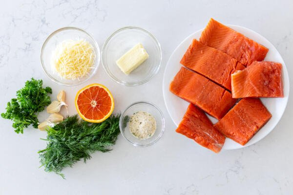 Ingredients for Herbed baked salmon